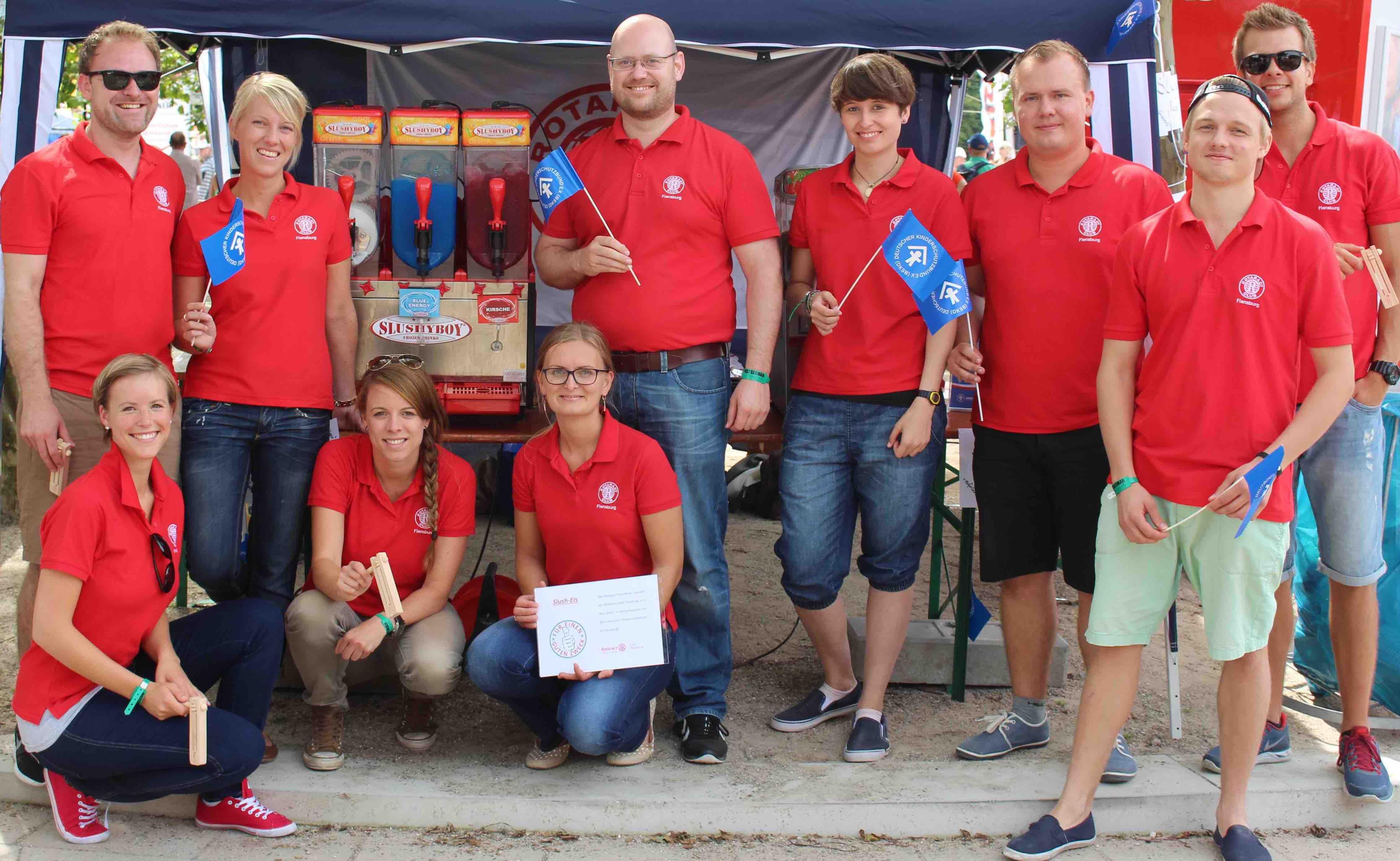 Slush-Ice-Verkauf auf dem Osterman 2015